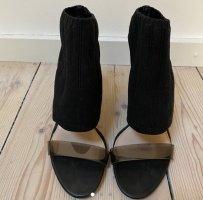 Zara High Heels schwarz mit PVC Riemchen