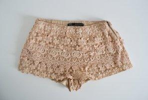 Zara High Waisted Crochet Hotpants für Urlaub oder Festival