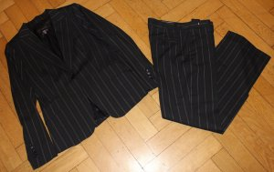 Zara Pinstripe Suit dark blue-light brown