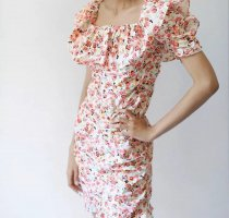Zara Hübsches Kleid mit Blumenmuster |Blümchen Rosa