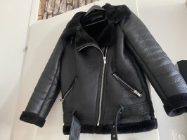 Zara Chaqueta de aviador negro