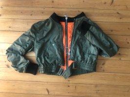 Zara Jacke Blouson Crop khaki Biker Top