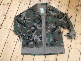 Zara Jacke Camouflage Fransen