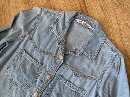 Zara Denim Dress azure cotton