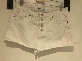 Zara Jeans Rock Short weiß Gr. S 36