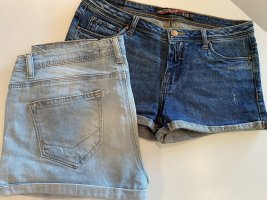 Zara Trafaluc Short en jean bleu-bleu clair