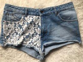 Zara Jeans Shorts mit Spitze