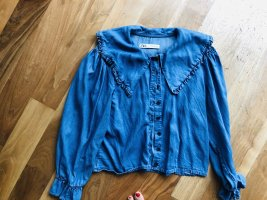 Zara Denim Blouse blue
