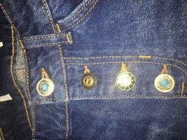 ZARA jeansminirock mit schmuckknöpfen, L