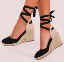 Zara Keil Sandalen zum Schnüren Gr. 39,5 einmal getragen