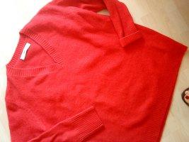 Zara Knit Long-Pullover erdbeerrot Größe L