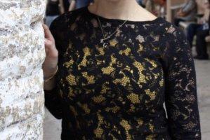 Zara Knit Oberteil in schwarz