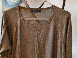 Zara Knit Pullover grün metallic Gr. S