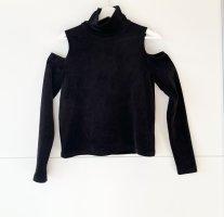 Zara knit Pullover schulterfrei mit cut Outs samt M