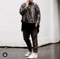 Zara lässiger Leo Print Jogger Hose Oversize Sweater Blogger Style Jogging Anzug Style