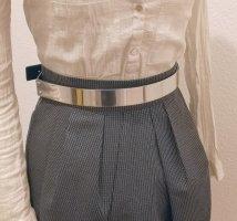 Zara Woman Cinturón pélvico negro-color plata
