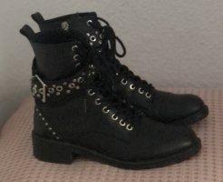 Zara Botines de invierno negro