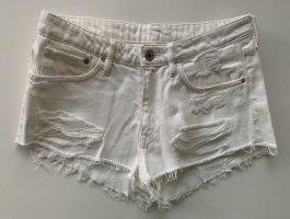 ZARA Low Waist Shorts & Denim Weiss Gr.36/S Neu