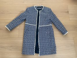 ZARA Mantel Blau Weiß, Größe XS