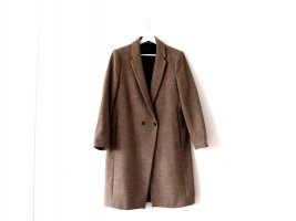 Zara Mantel Gr. L 40 taupe melange Mantel klassisch Wolle