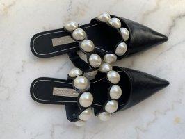 ZARA Mules mit Perlen