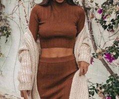 Zara Turtleneck Shirt brown-beige