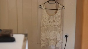 Zara Haut en crochet blanc-jaune clair