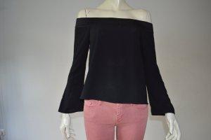 Zara Oberteil schulterfrei Shirt Top schwarz Gr. XS 34 TOP