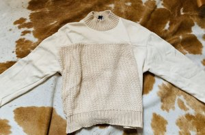 Zara Jersey de lana blanco puro-crema