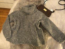 Zara Oversized Rollkragen Heavy Knit Cable Pullover Strick Mohair