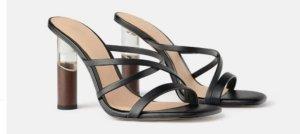 Zara Strapped pumps black-brown