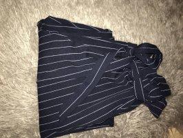 Zara Pantalone peg-top blu scuro-bianco