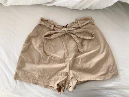 Zara High waist short beige-camel