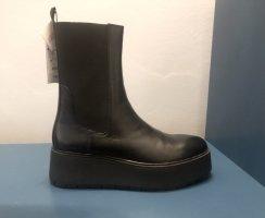 ZARA Plateau Stiefeletten Chelsea Boots Platform 40