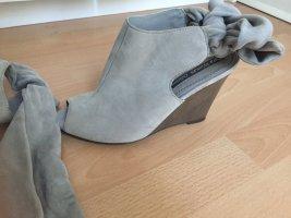 Zara Sandalo con plateau argento-grigio chiaro Pelle