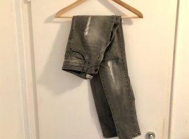 Zara Premium Jeans 34 grau destroyed Löcher Skinny Slim Top