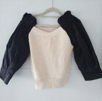 Zara Pullover aus Materialmix Pulli, Grösse XL