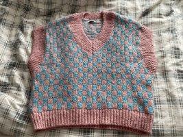Zara Fine Knitted Cardigan pink-baby blue