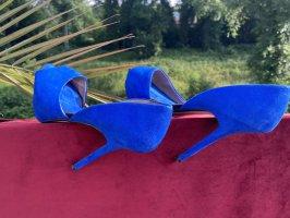 Zara Pumps vorne offen blau 38