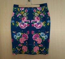 Zara Rock Bleistiftrock Blumen Gr.M bzw. L
