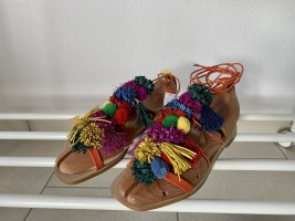 Zara Woman Roman Sandals multicolored leather