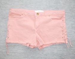 Zara rosa Jeans Hotpants / Schnürung
