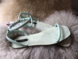 Zara Basic Sandalo con cinturino celeste-verde-grigio