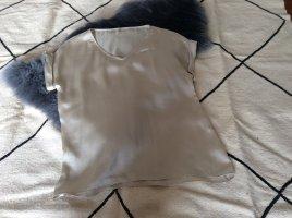 Zara Satin Shirt//Bluse//Oversize//Creme//Größe M