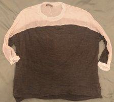 Zara Shirt gr. M /38 grau weiß