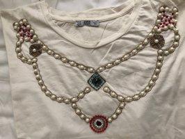 Zara Cropped shirt licht beige