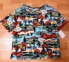 Zara Batik Shirt multicolored cotton
