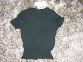 ZARA Shirt Top in Schwarz aus 100% ökologischer Baumwolle Neu