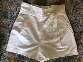 Zara Shorts 40 L neu weiß Schleife