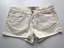 Zara Krótkie szorty biały-w kolorze białej wełny